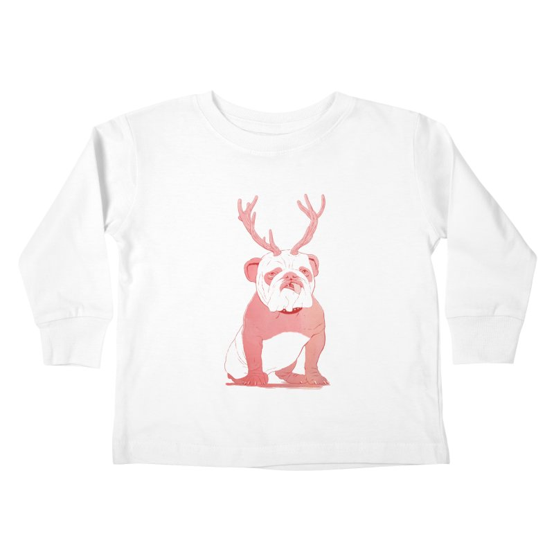 Bull 2.0 Kids Toddler Longsleeve T-Shirt by Victor Calahan
