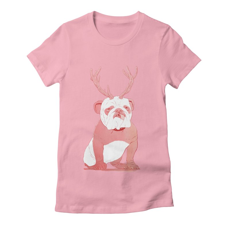 Bull 2.0 Women's Fitted T-Shirt by Victor Calahan
