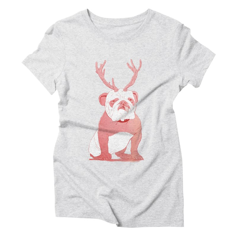 Bull 2.0 Women's Triblend T-shirt by Victor Calahan