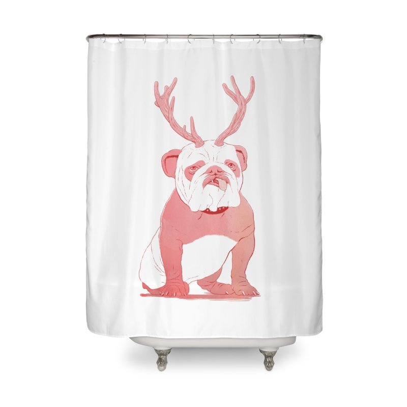 Bull 2.0 Home Shower Curtain by Victor Calahan