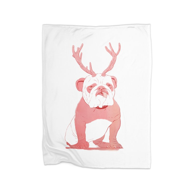 Bull 2.0 Home Fleece Blanket by Victor Calahan