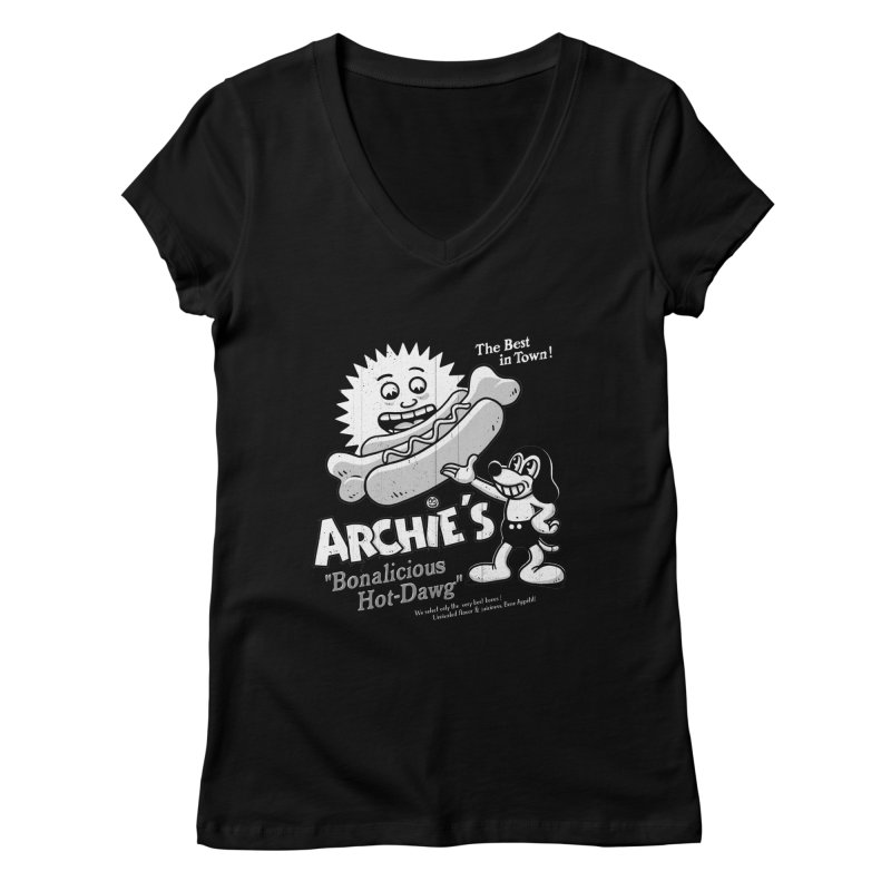 Archie's Women's V-Neck by Victor Calahan