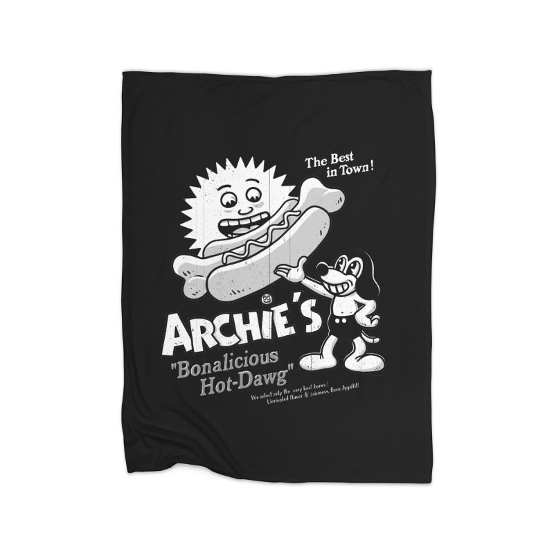 Archie's Home Fleece Blanket by Victor Calahan