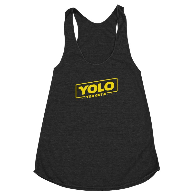 Yolo! Women's Racerback Triblend Tank by Victor Calahan