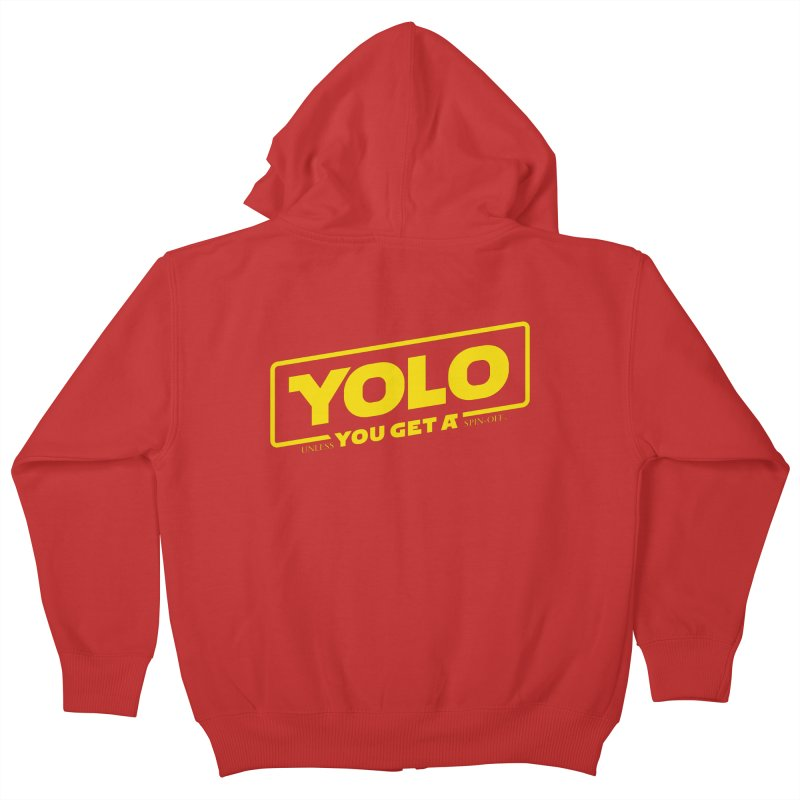 Yolo! Kids Zip-Up Hoody by Victor Calahan
