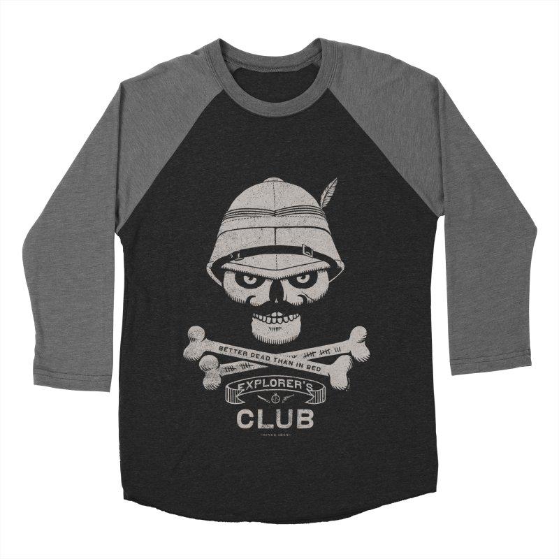 Explorer's Club Men's Baseball Triblend T-Shirt by Victor Calahan