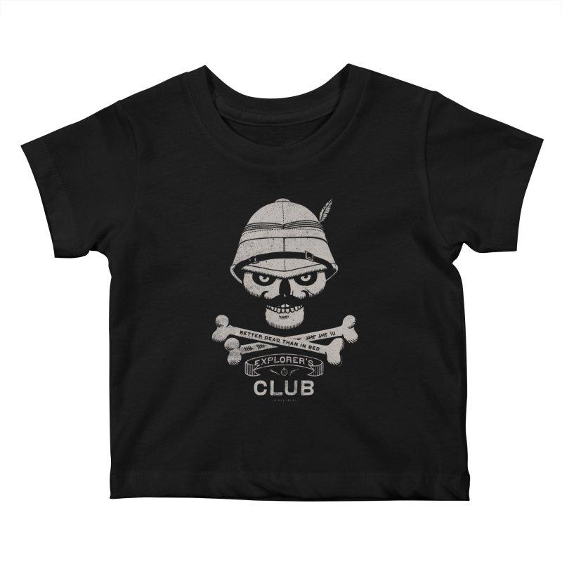 Explorer's Club Kids Baby T-Shirt by Victor Calahan