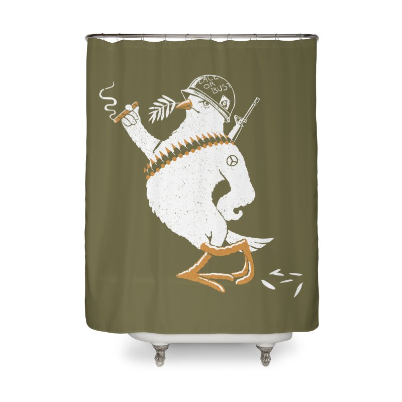The Peacemaker Home Shower Curtain by Victor Calahan