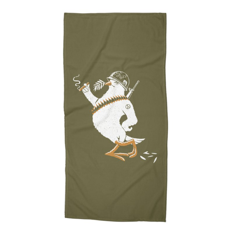 The Peacemaker Accessories Beach Towel by Victor Calahan