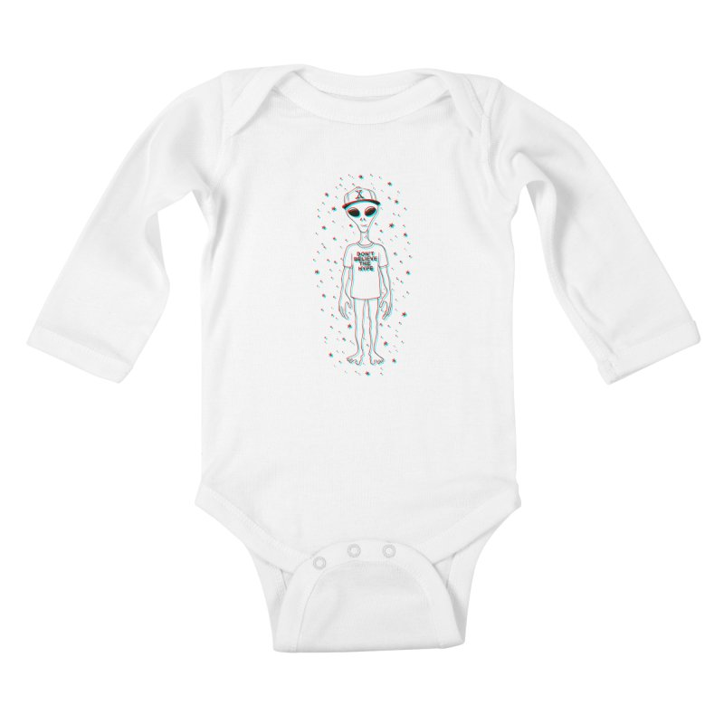 Don't believe the hype Kids Baby Longsleeve Bodysuit by Victor Calahan