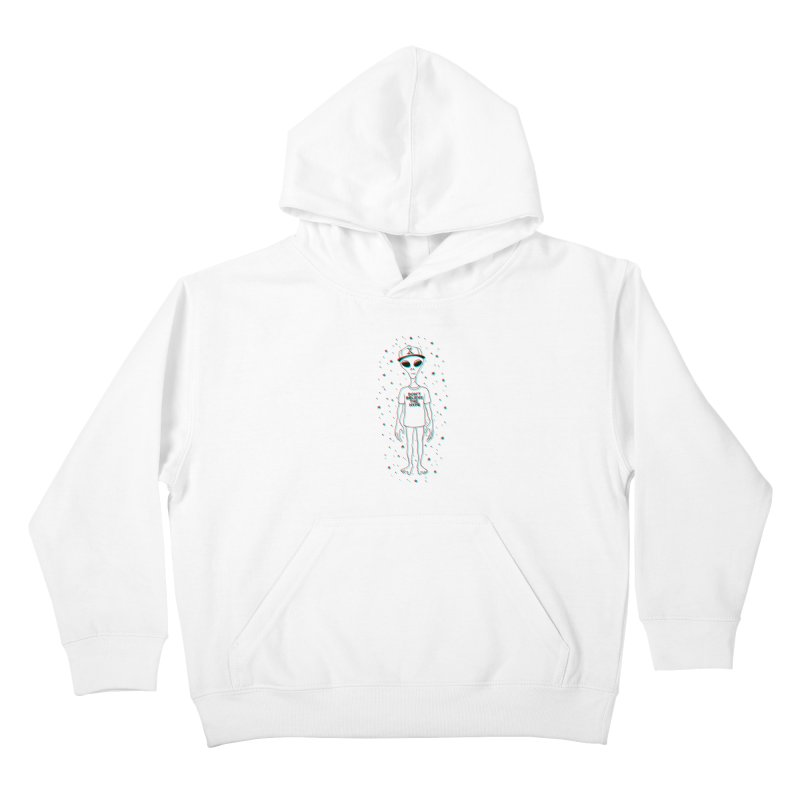 Don't believe the hype Kids Pullover Hoody by Victor Calahan