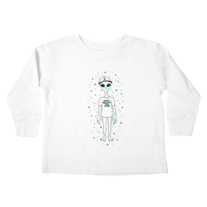 Don't believe the hype Kids Toddler Longsleeve T-Shirt by Victor Calahan