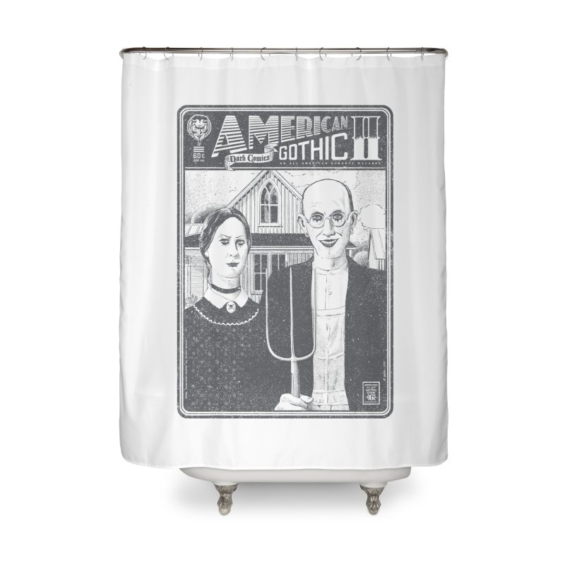 American Gothic 2.0 Home Shower Curtain by Victor Calahan