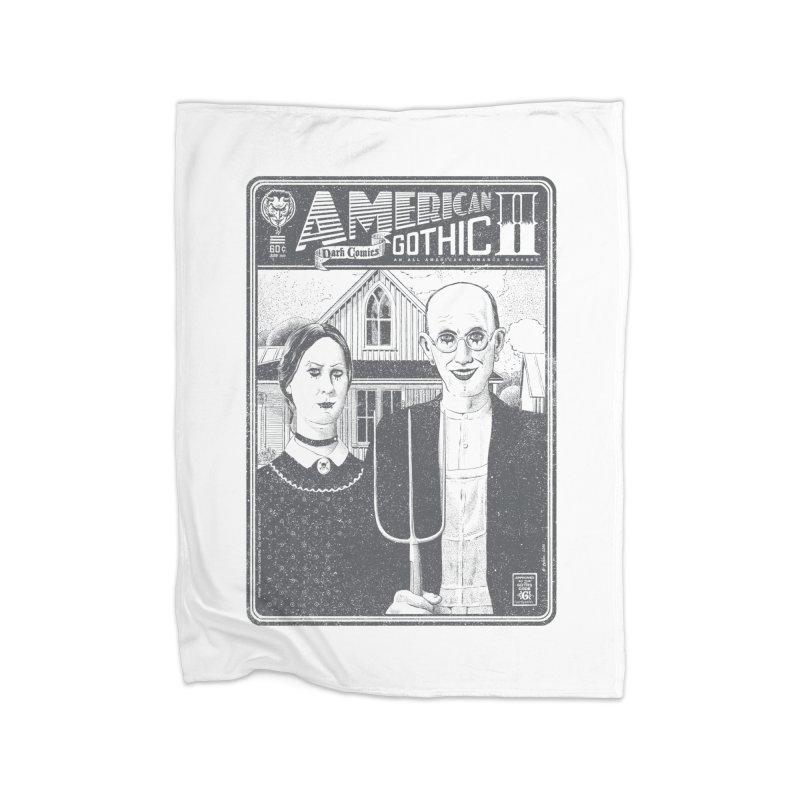American Gothic 2.0 Home Fleece Blanket by Victor Calahan