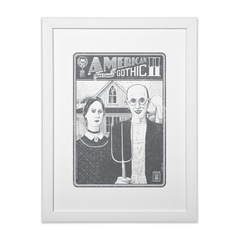 American Gothic 2.0 Home Framed Fine Art Print by Victor Calahan