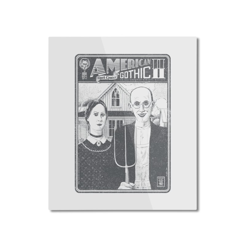 American Gothic 2.0 Home Mounted Aluminum Print by Victor Calahan