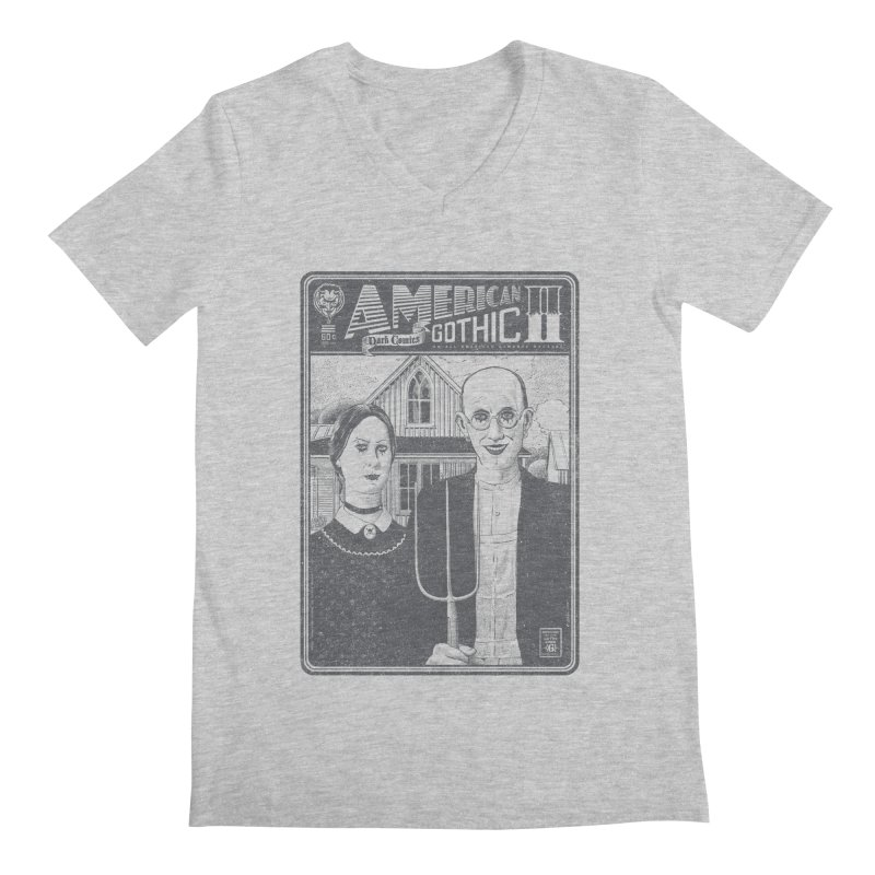 American Gothic 2.0 Men's V-Neck by Victor Calahan