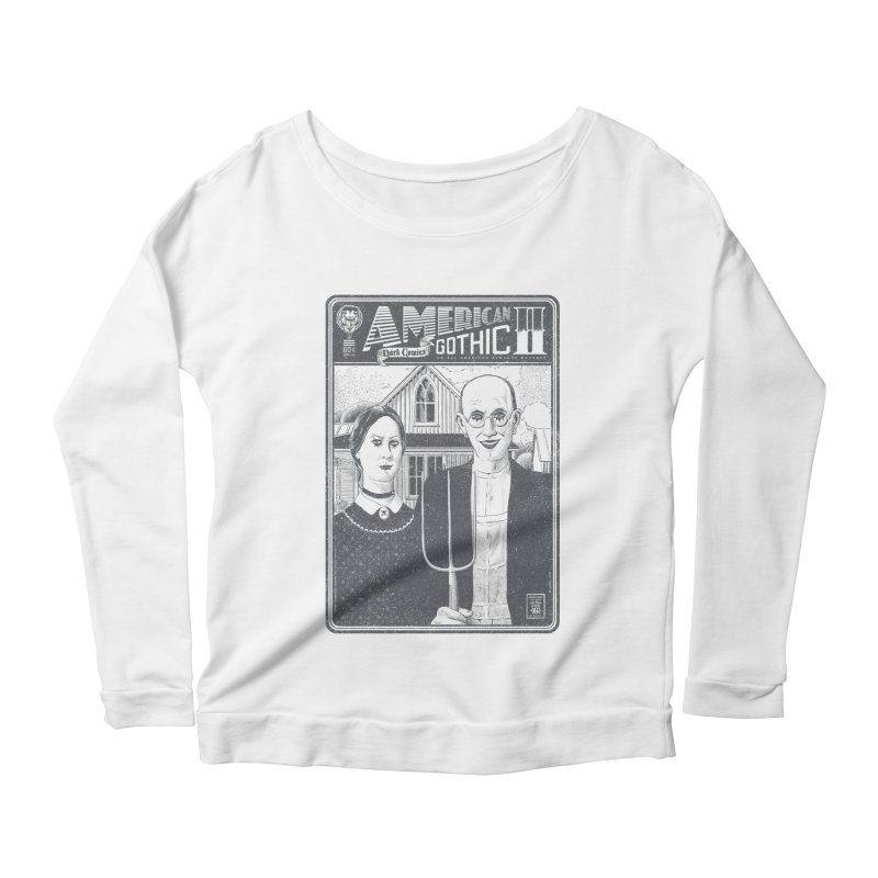 American Gothic 2.0 Women's Longsleeve Scoopneck  by Victor Calahan