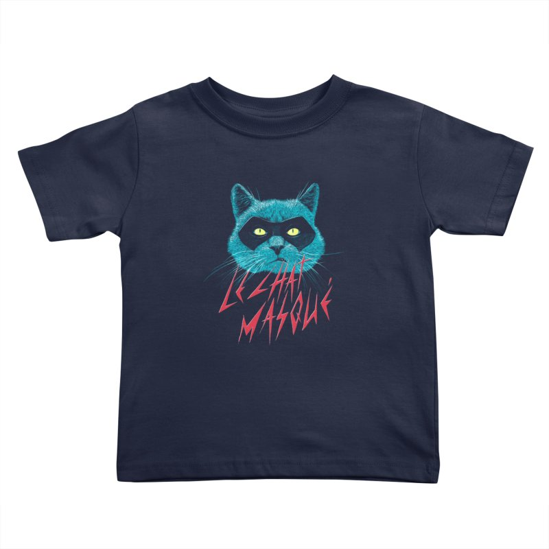 Le Chat Masqué Kids Toddler T-Shirt by Victor Calahan