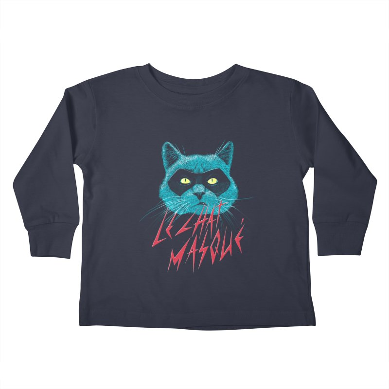 Le Chat Masqué Kids Toddler Longsleeve T-Shirt by Victor Calahan