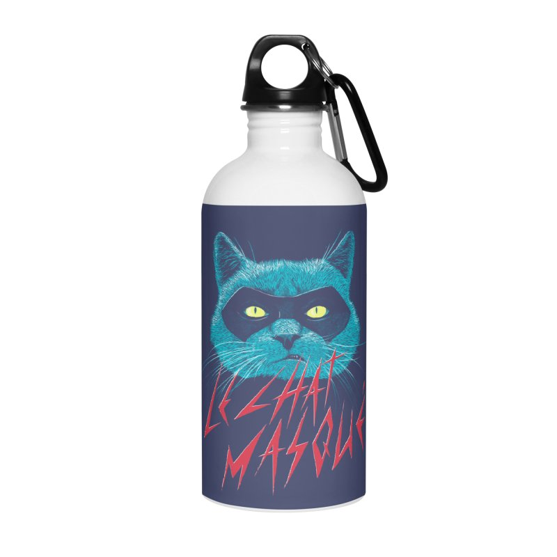 Le Chat Masqué Accessories Water Bottle by Victor Calahan