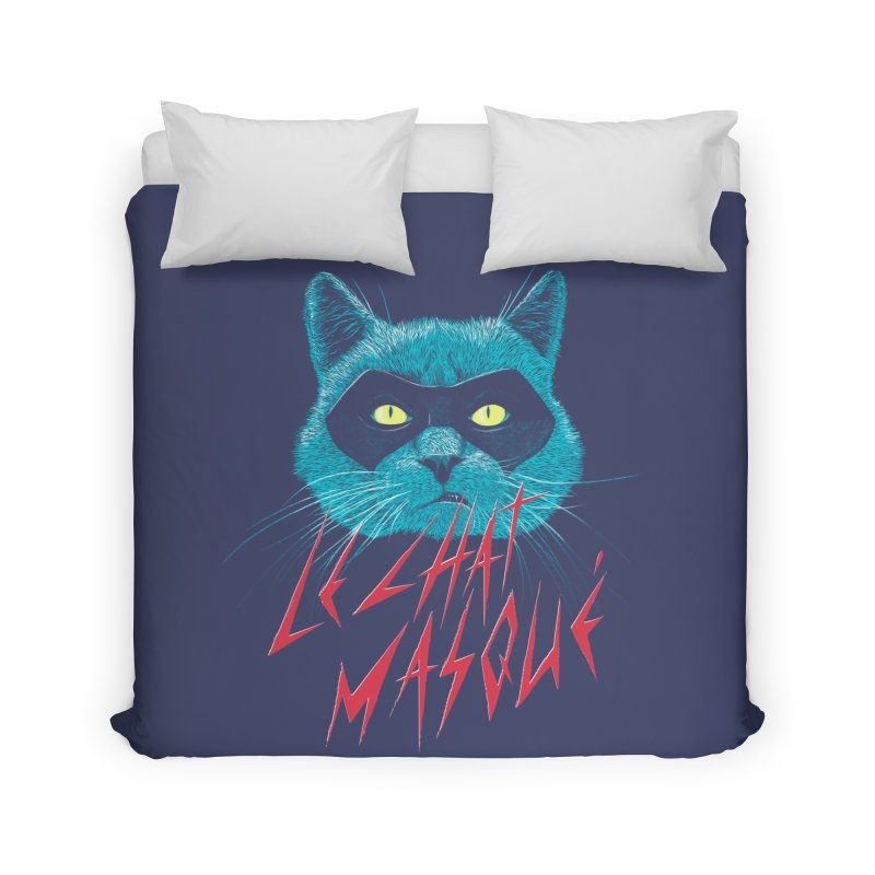 Le Chat Masqué Home Duvet by Victor Calahan