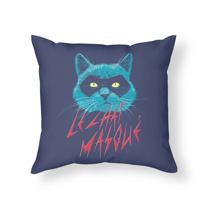 Le Chat Masqué Home Throw Pillow by Victor Calahan