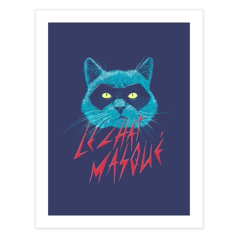 Le Chat Masqué Home Fine Art Print by Victor Calahan