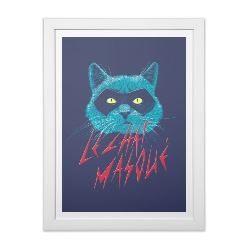 Le Chat Masqué Home Framed Fine Art Print by Victor Calahan
