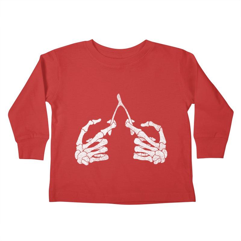 Wishbones Kids Toddler Longsleeve T-Shirt by Victor Calahan
