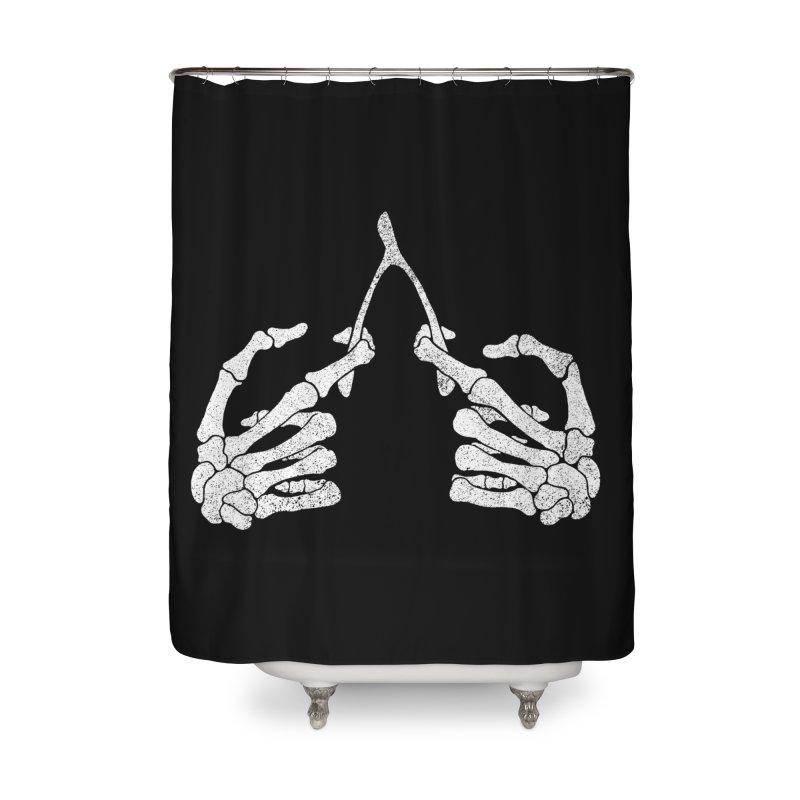 Wishbones Home Shower Curtain by Victor Calahan