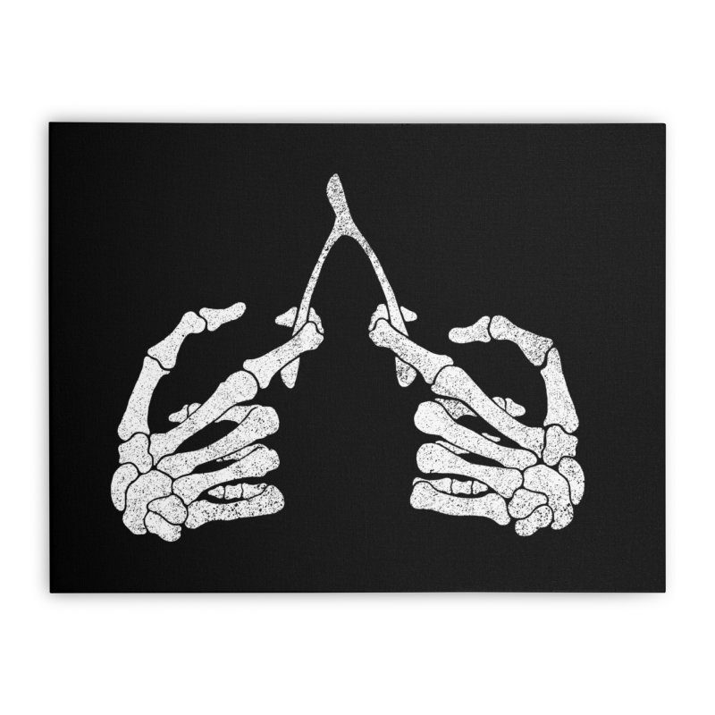 Wishbones Home Stretched Canvas by Victor Calahan
