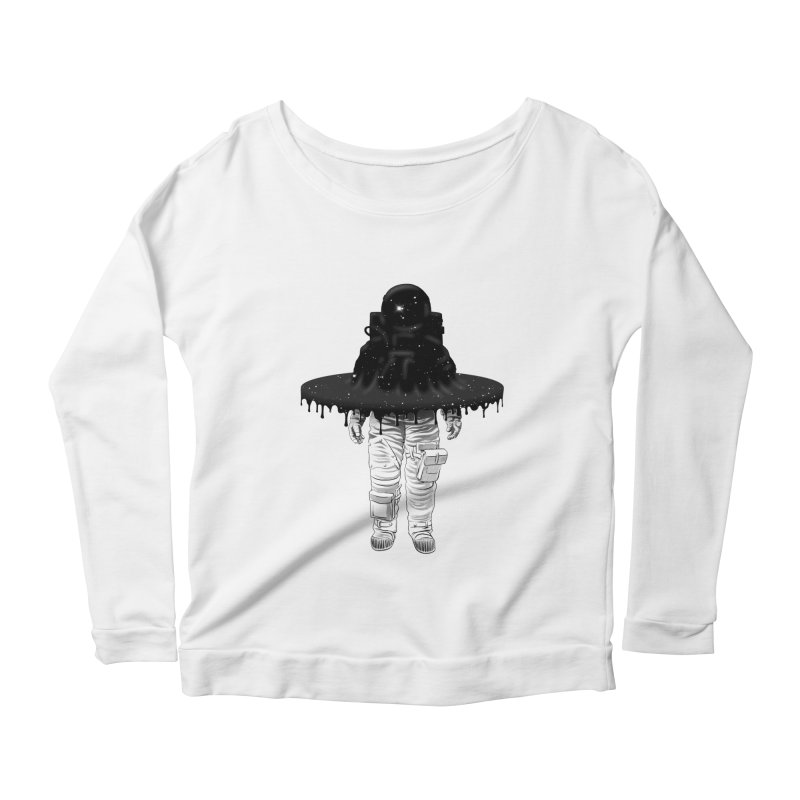 Through the Black Hole Women's Longsleeve Scoopneck  by Victor Calahan