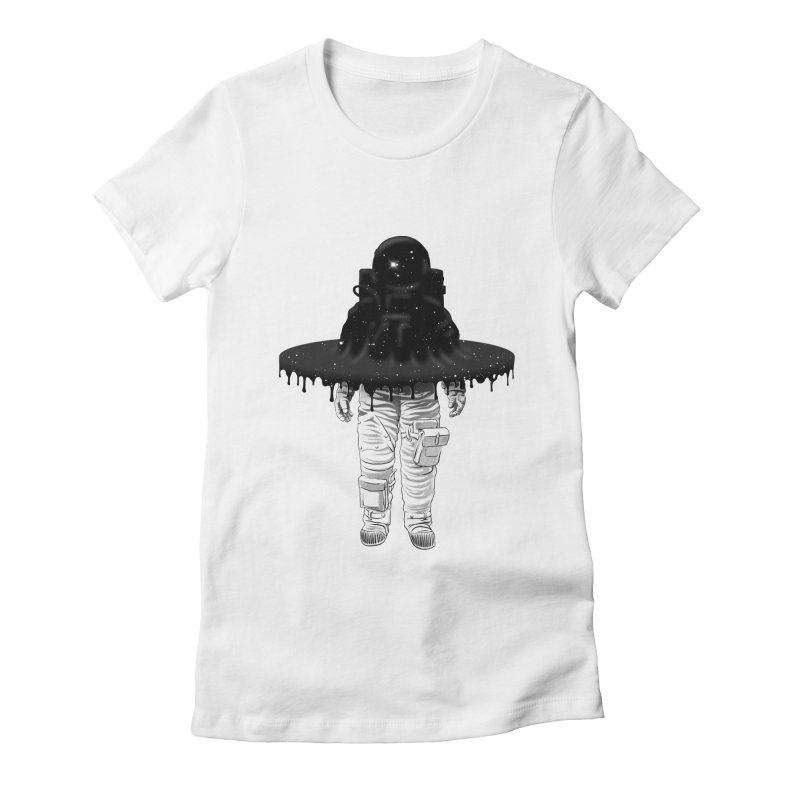Through the Black Hole Women's Fitted T-Shirt by Victor Calahan