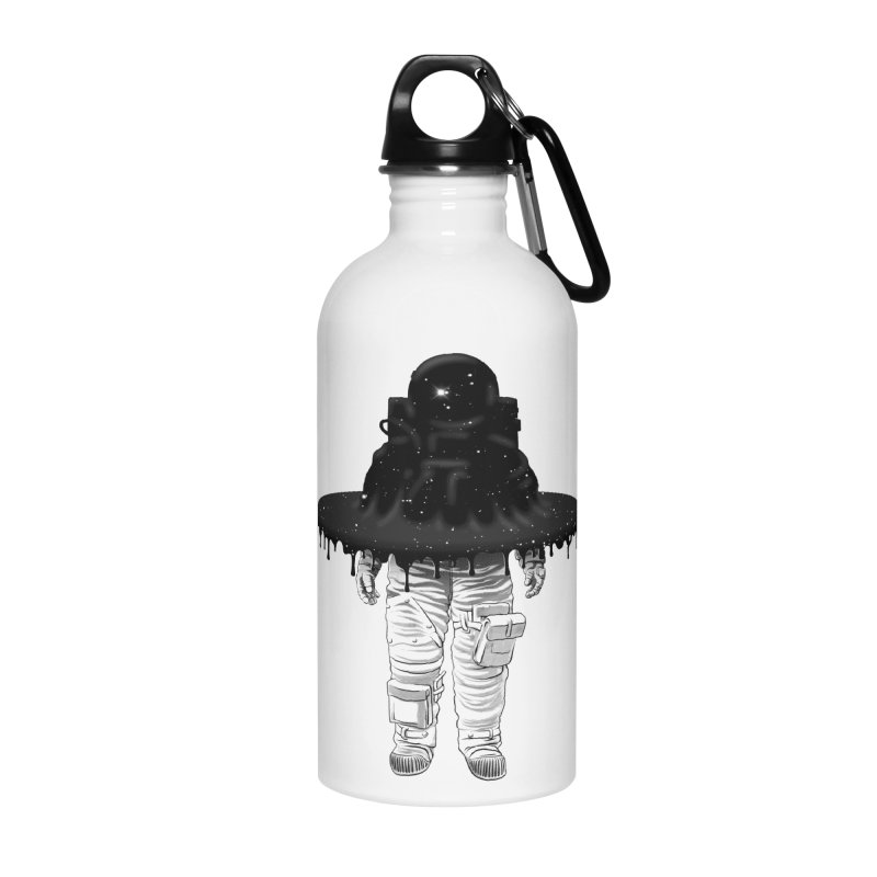 Through the Black Hole Accessories Water Bottle by Victor Calahan