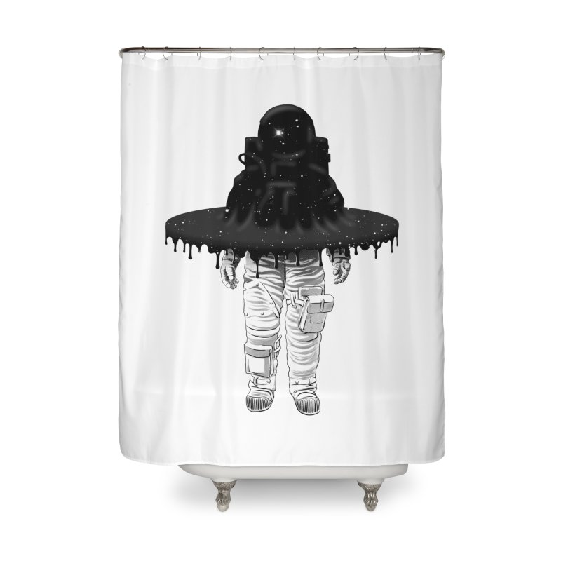 Through the Black Hole Home Shower Curtain by Victor Calahan