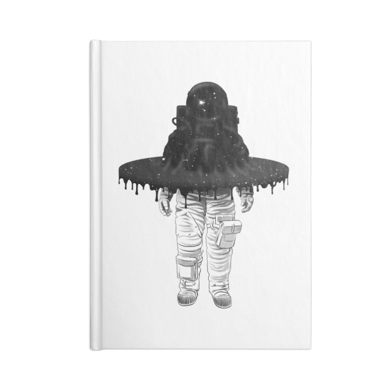 Through the Black Hole Accessories Notebook by Victor Calahan