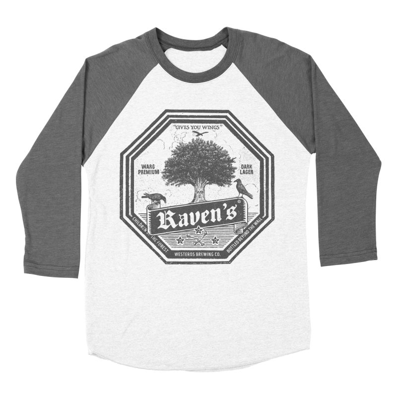 Raven's in Men's Baseball Triblend T-Shirt Tri-Grey Sleeves by Victor Calahan