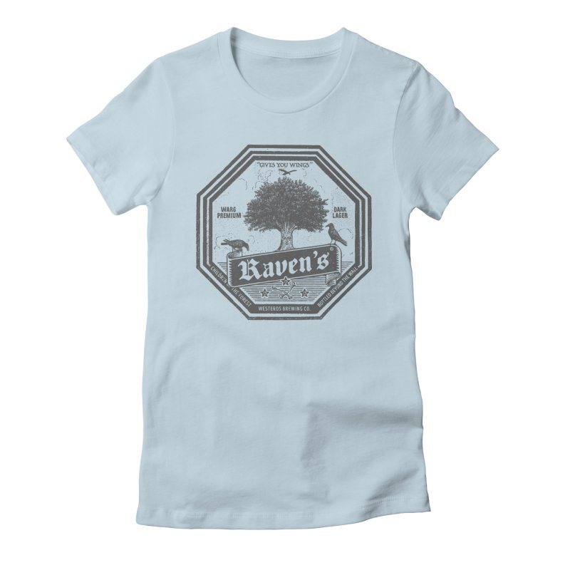 Raven's Women's Fitted T-Shirt by Victor Calahan