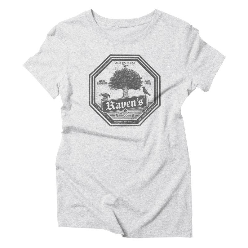 Raven's Women's Triblend T-Shirt by Victor Calahan