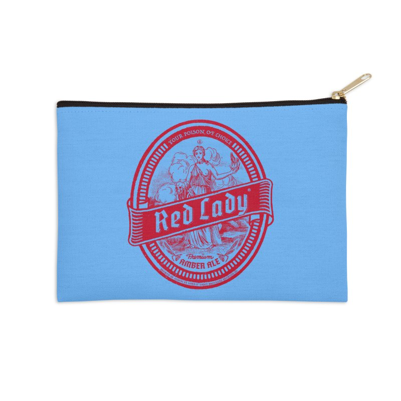 Red Lady Accessories Zip Pouch by Victor Calahan