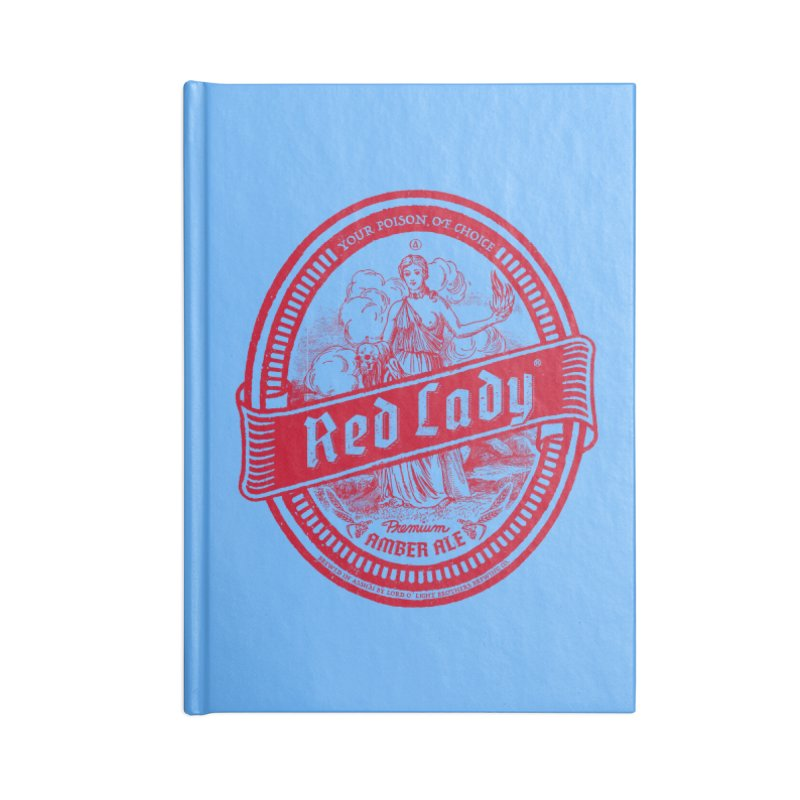 Red Lady Accessories Lined Journal Notebook by Victor Calahan