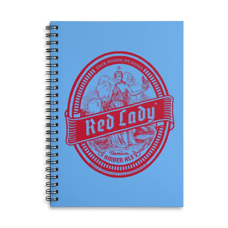 Red Lady Accessories Lined Spiral Notebook by Victor Calahan