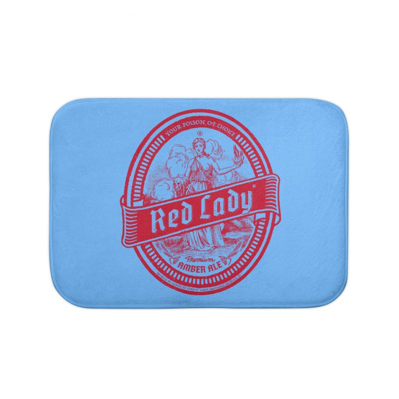 Red Lady Home Bath Mat by Victor Calahan