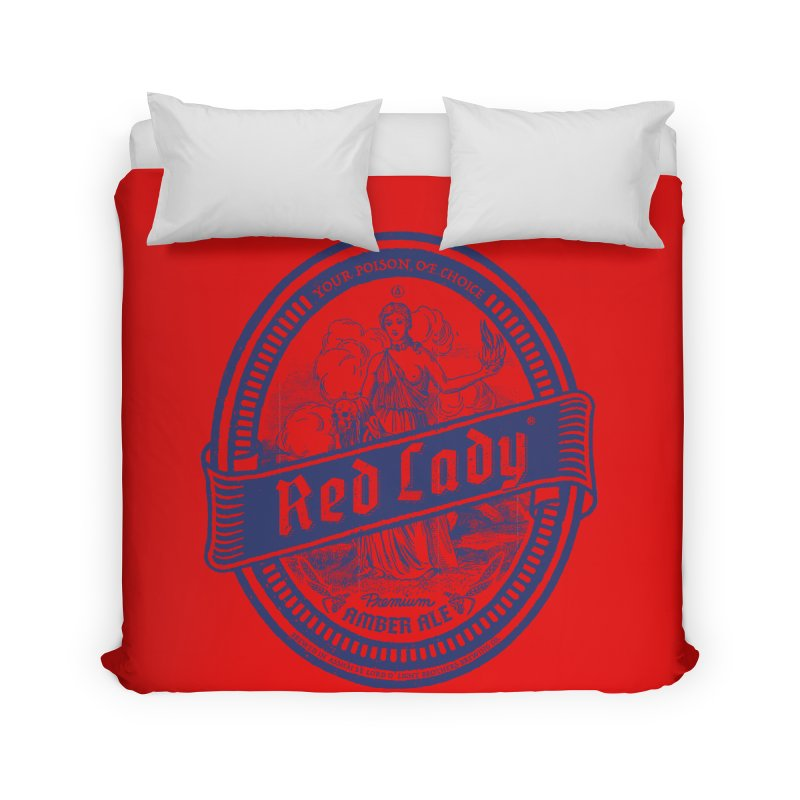 Red Lady's Home Duvet by Victor Calahan