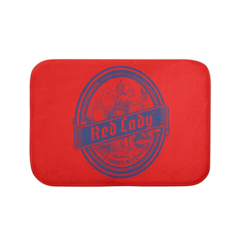 Red Lady's Home Bath Mat by Victor Calahan