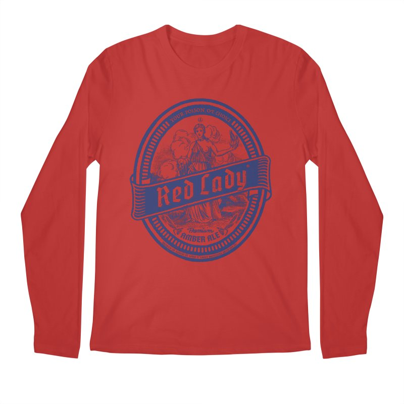 Red Lady's Men's Longsleeve T-Shirt by Victor Calahan