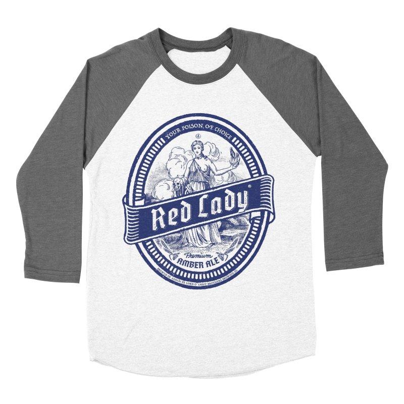 Red Lady's Men's Baseball Triblend T-Shirt by Victor Calahan