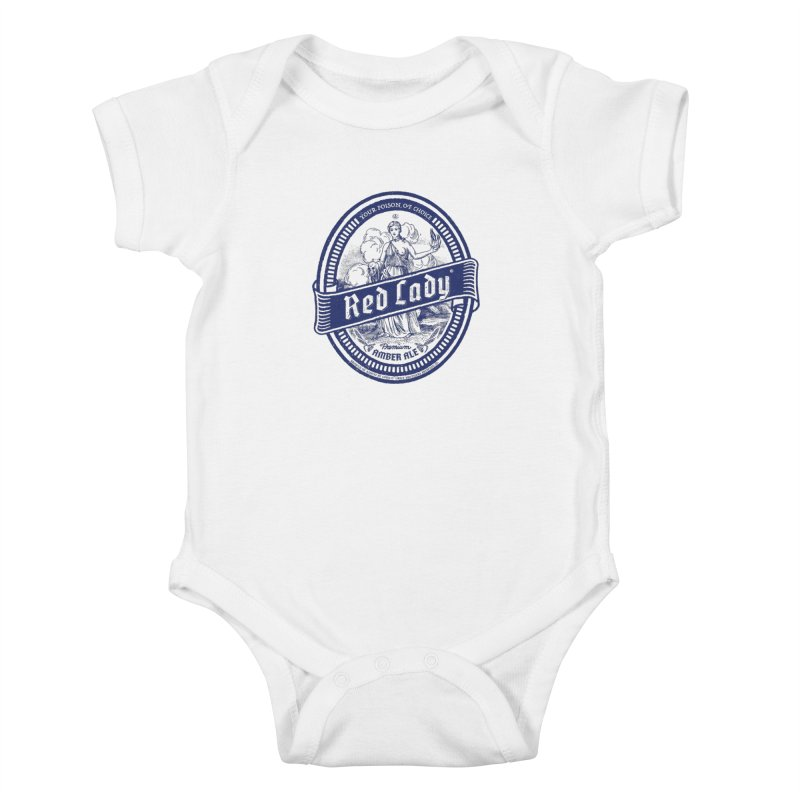 Red Lady's Kids Baby Bodysuit by Victor Calahan