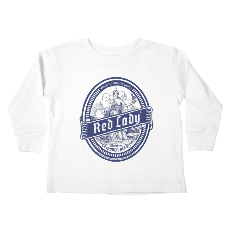 Red Lady's Kids Toddler Longsleeve T-Shirt by Victor Calahan